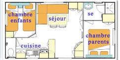 Plan du Mobil-home Prix Doux