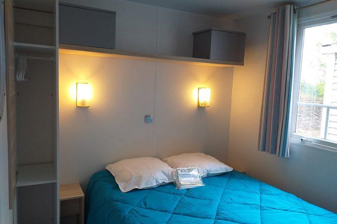 Chambre parentale du Mobil-home Confort 3 chambres