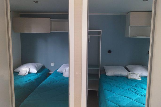 Chambres du Mobil-home Premium 4/6 personnes
