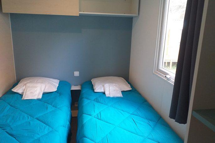 Chambre enfants du Mobil-home Premium 2 chambres 4 personnes