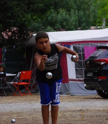 Concours de pétanque au camping